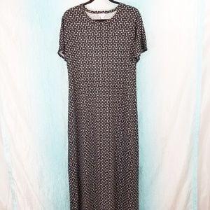 🌻 Lularoe Maria Diamond Print Maxi Dress A31